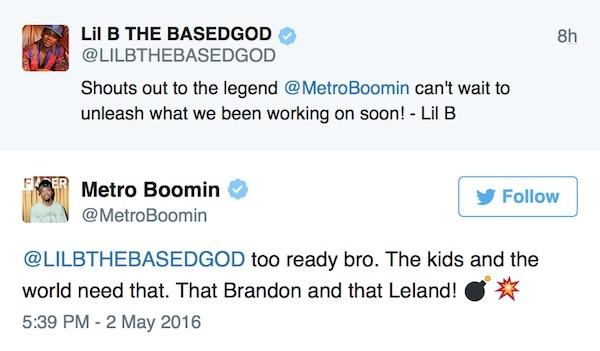 lil b metro boomin tweets