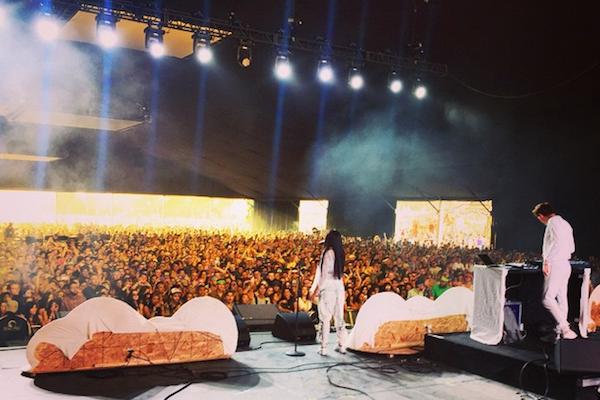 Hemsworth and Tinashe at Coachella, via Ryan Hemsworth