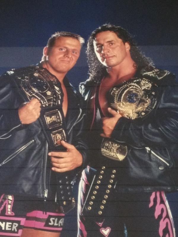 Owen Hart and Bret Hart. RIP Owen