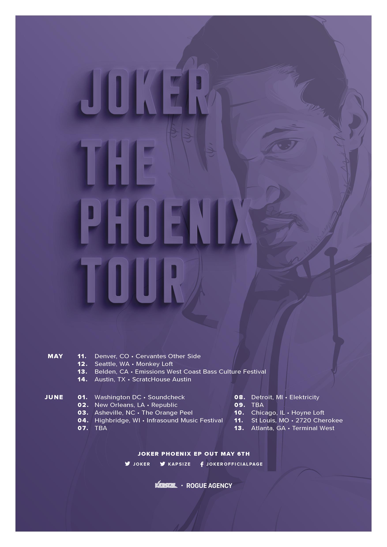Joker Phoenix Tour poster