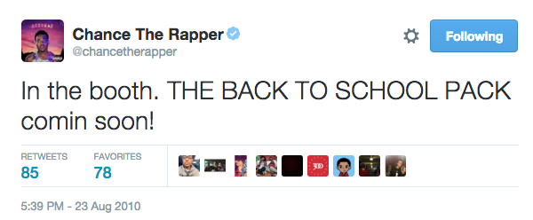 chance-rapper-first-tweet