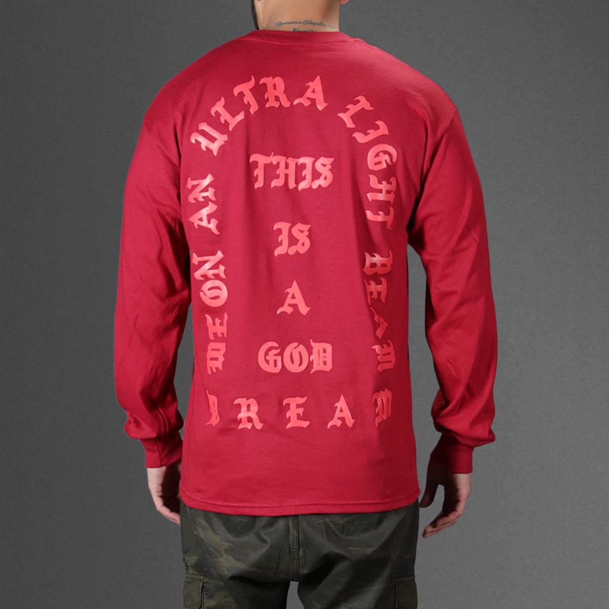 1 kanye west i feel like pablo red long sleeve tee t-shirt back yeezus back-1200x1200