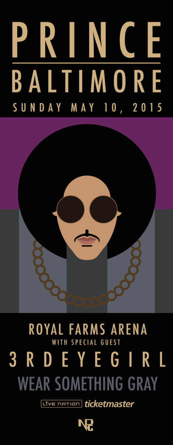 prince concert poster