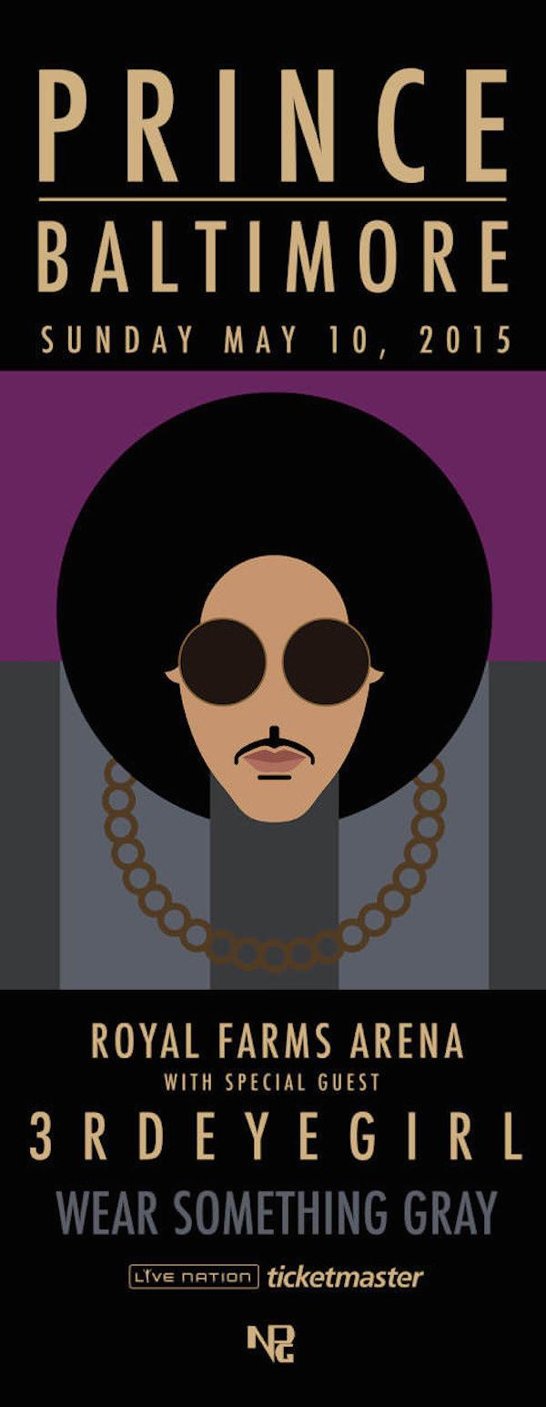 prince concert poster