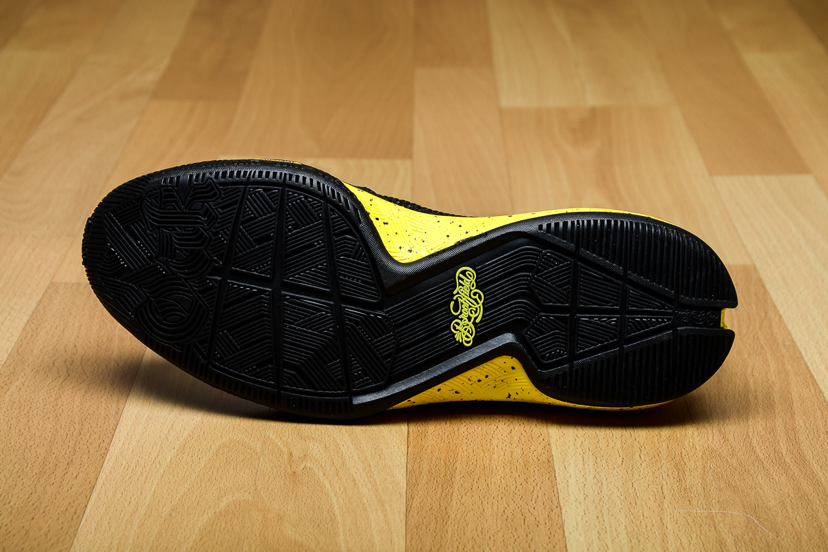 adidas D Lillard 2 Black/Yellow Sole B42354