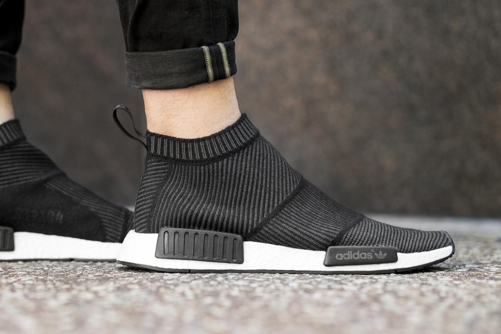 The adidas WMNS NMD City Sock 2 Black White Drops Tomorrow