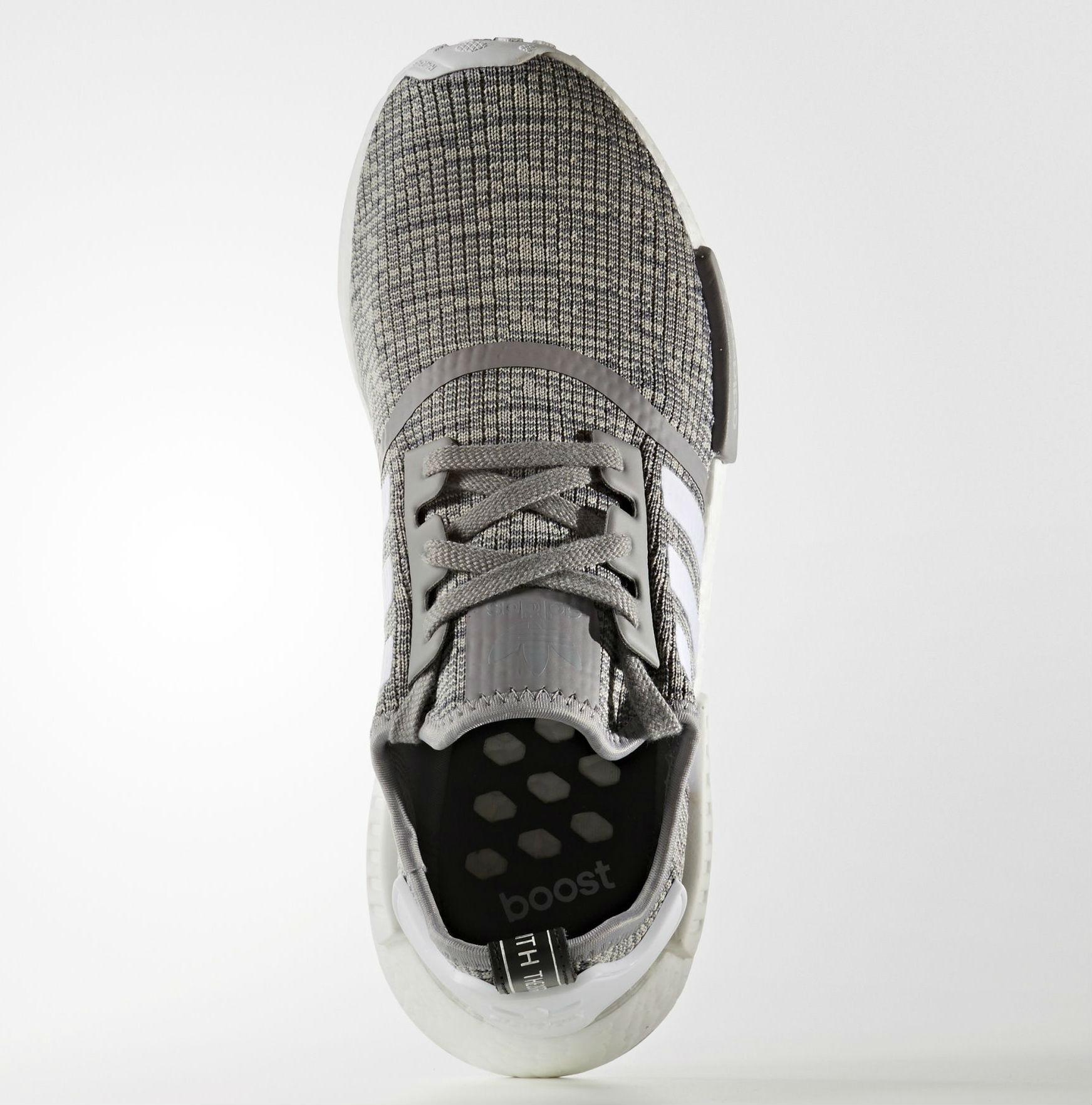 adidas NMD_R1 Glitch Solid Grey/White Top BB2886