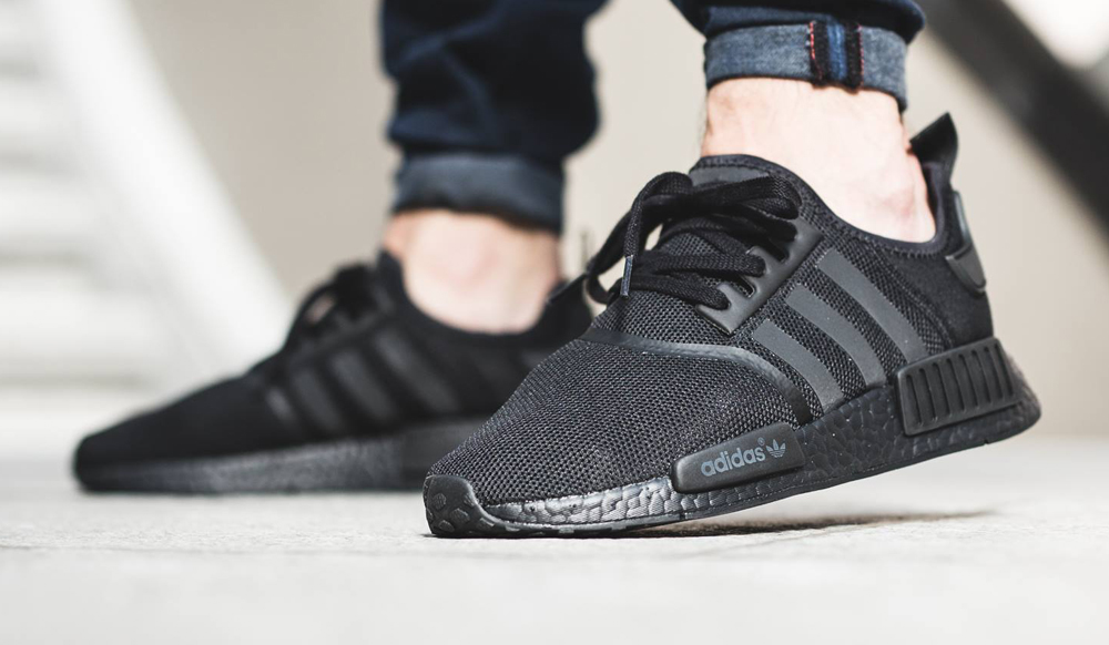 official photos d7653 5824b Triple Black Adidas NMD On Feet | Sole Collector
