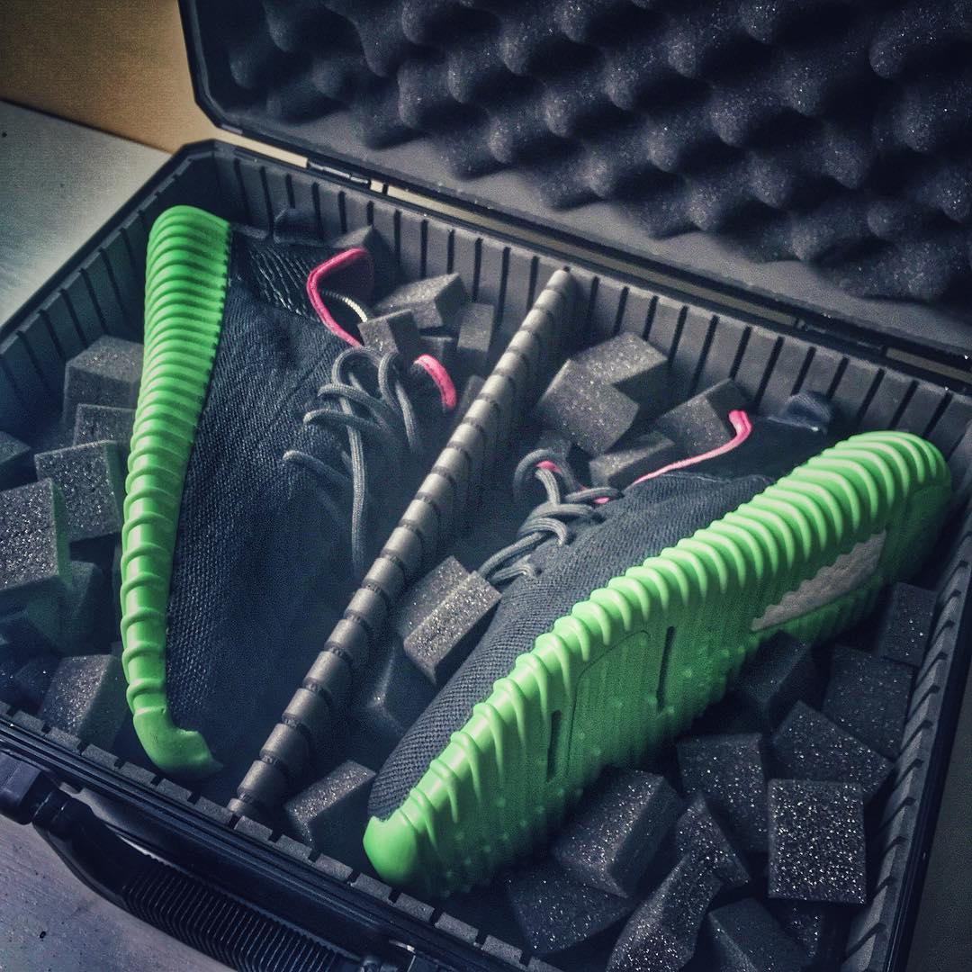 adidas Yeezy 350 Boost Solar Red Custom
