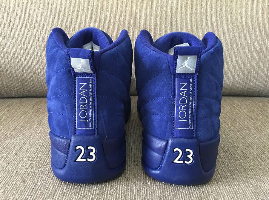 Air Jordan 12 Royal Suede Heel 130690-400 c331e5451