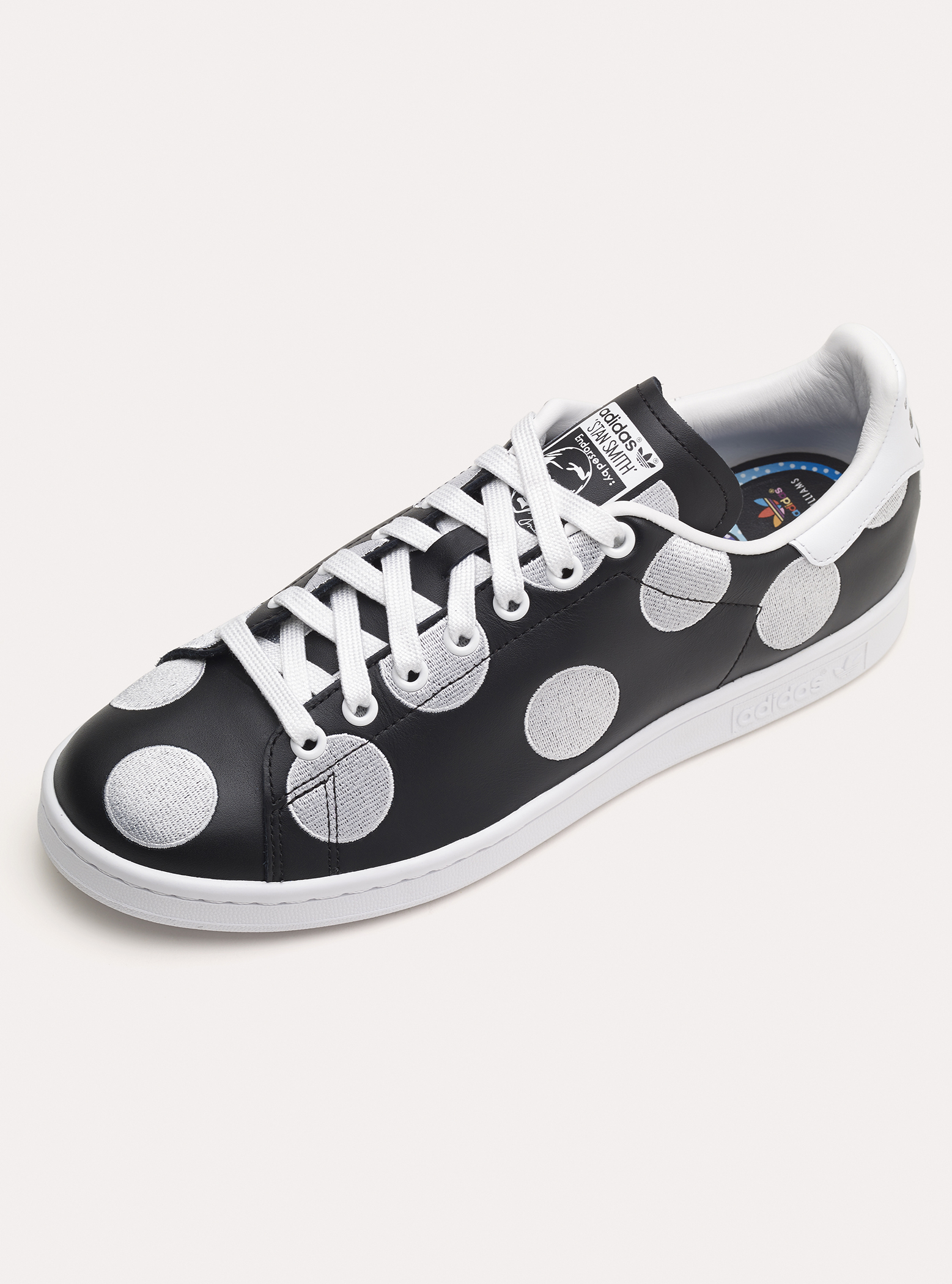 adidas black polka dot shoes