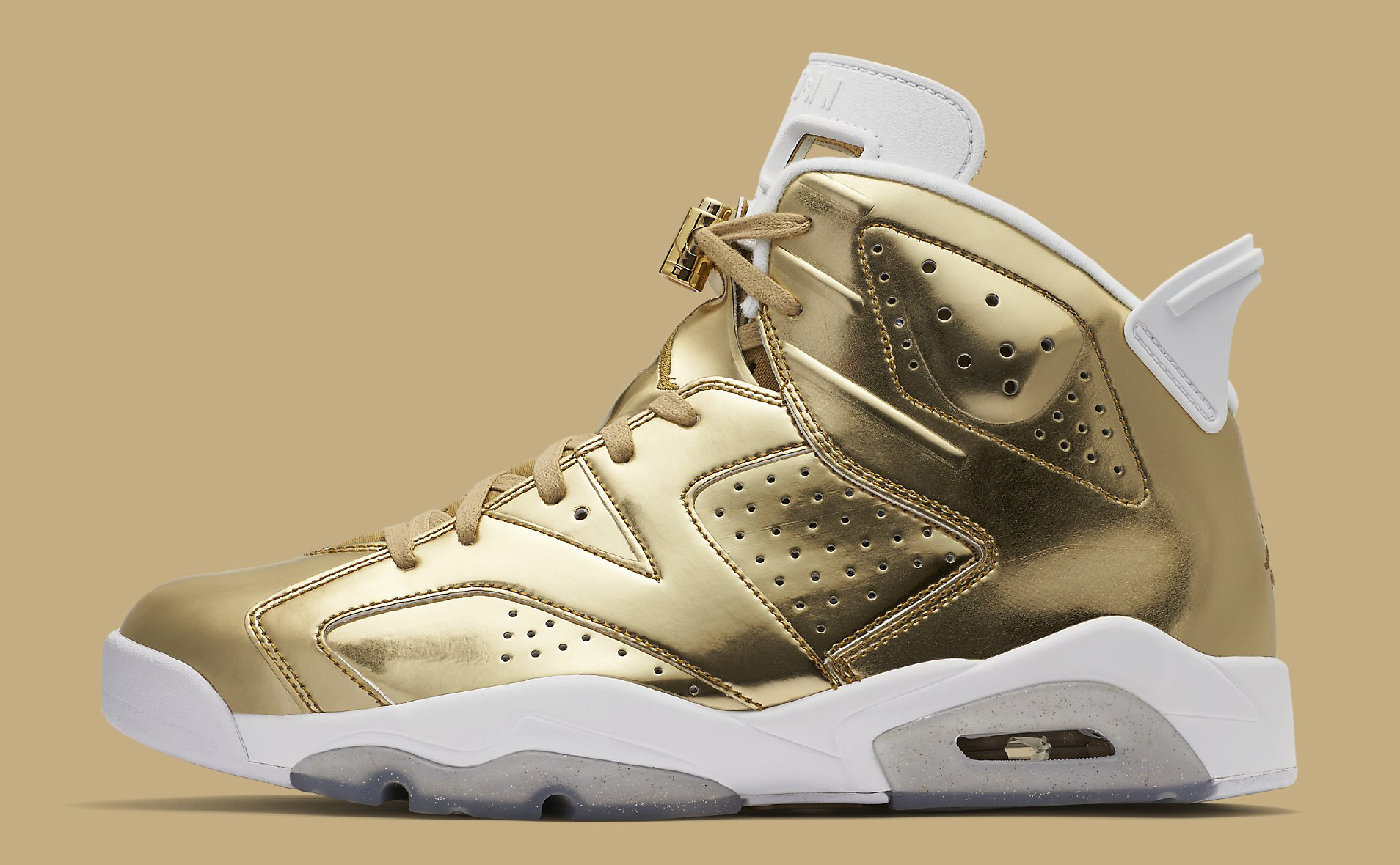 best service a7bfb fb248 Gold Air Jordan 6 Pinnacle Championship | Sole Collector
