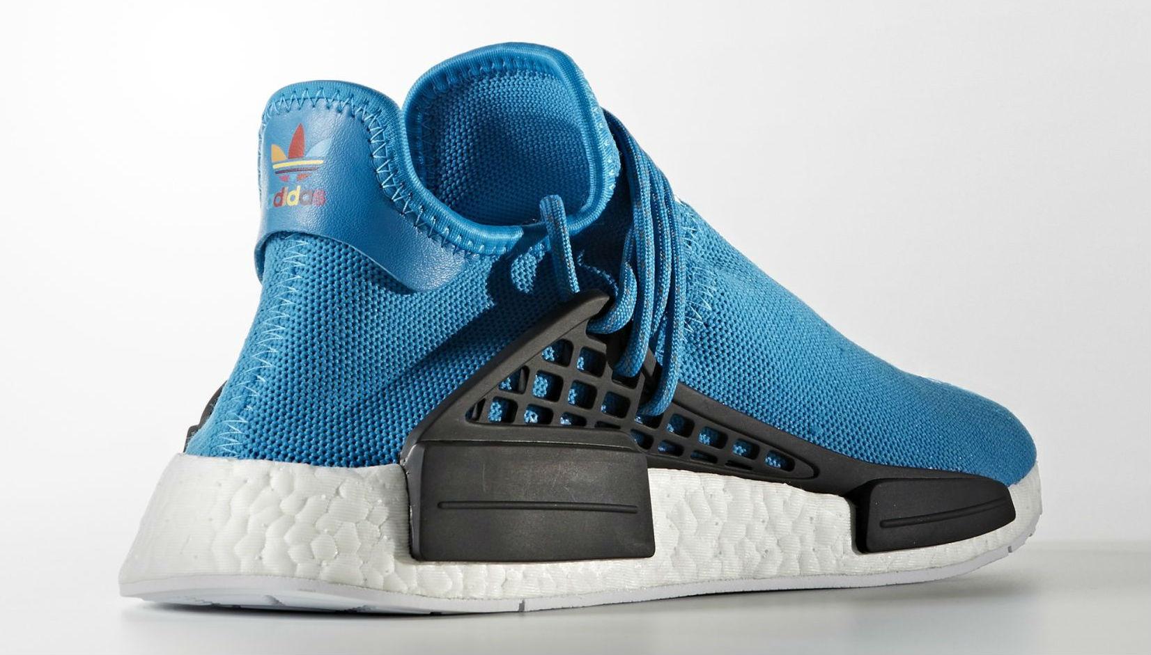 Blue Pharrell adidas NMD Human Race Lateral