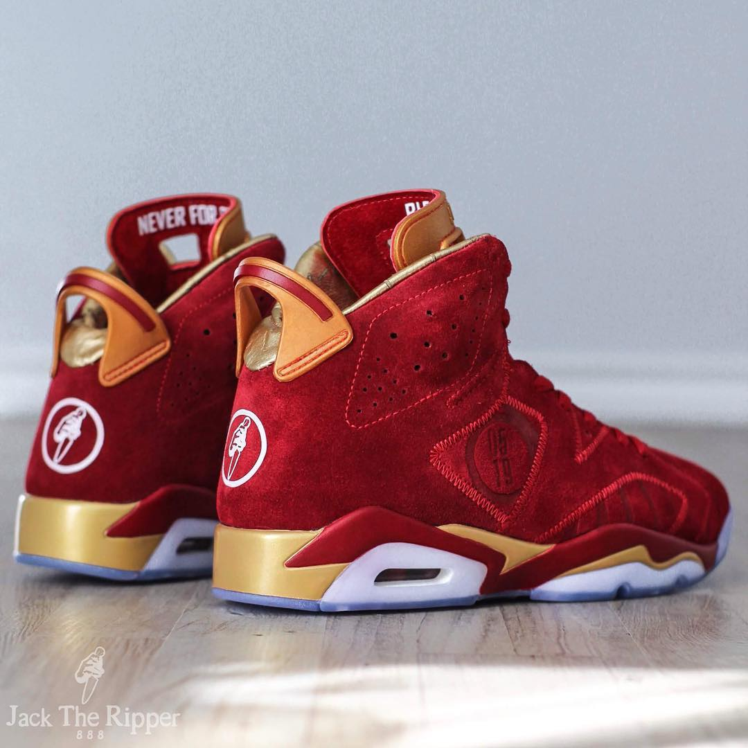 new arrival 437e7 80ff4 Air Jordan 6 Blood Red Custom Jack the Ripper | Sole Collector