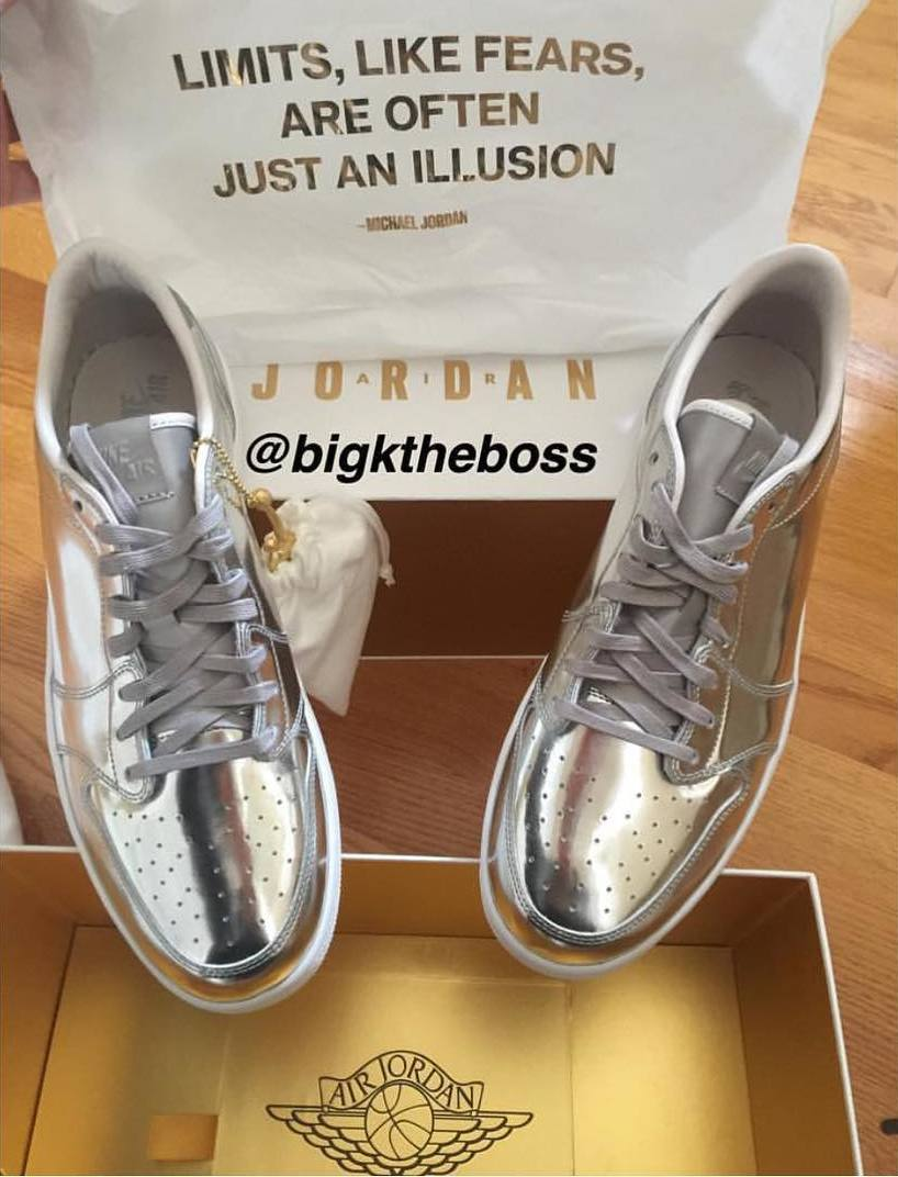 sneakers for cheap b4309 b48b0 Air Jordan 1 Low Pinnacle Gold/Silver | Sole Collector