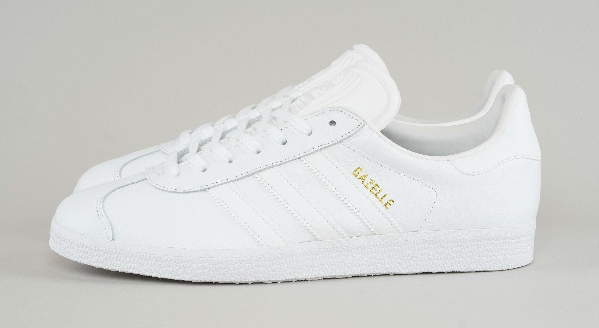Adidas Gazelle Triple White   Sole