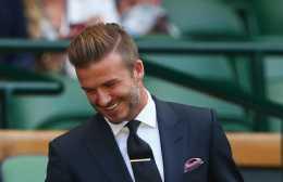 David Beckham and his disconnected undercut.