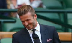 David Beckham and his disconnected undercut.
