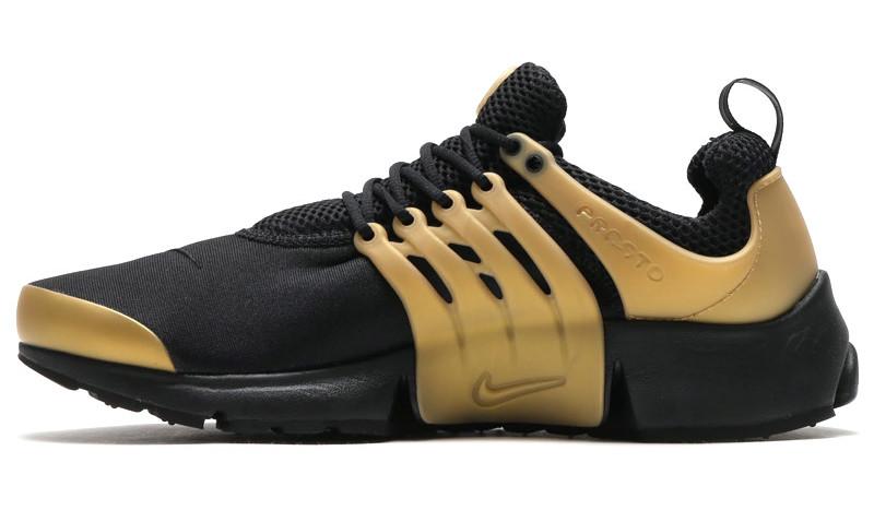 2b638f38e60fd Nike Air Presto Black Metallic Gold | Sole Collector