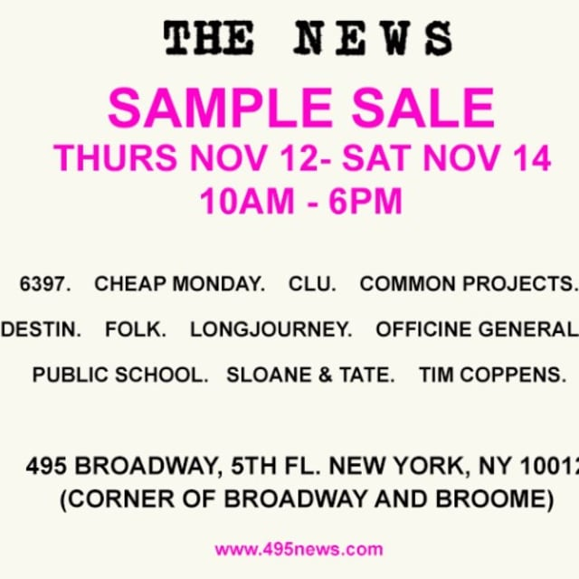 the news 39 sample sale is back with huge discounts on common projects public school and more. Black Bedroom Furniture Sets. Home Design Ideas