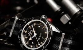 "James Bond's latest timepiece, the OMEGA Seamaster 300 ""Spectre"""