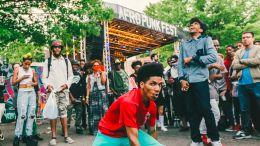 Breaking it down at the Afropunk Festival in Brooklyn.