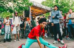 Breaking it down at the Afropunk Festival in Brooklyn.