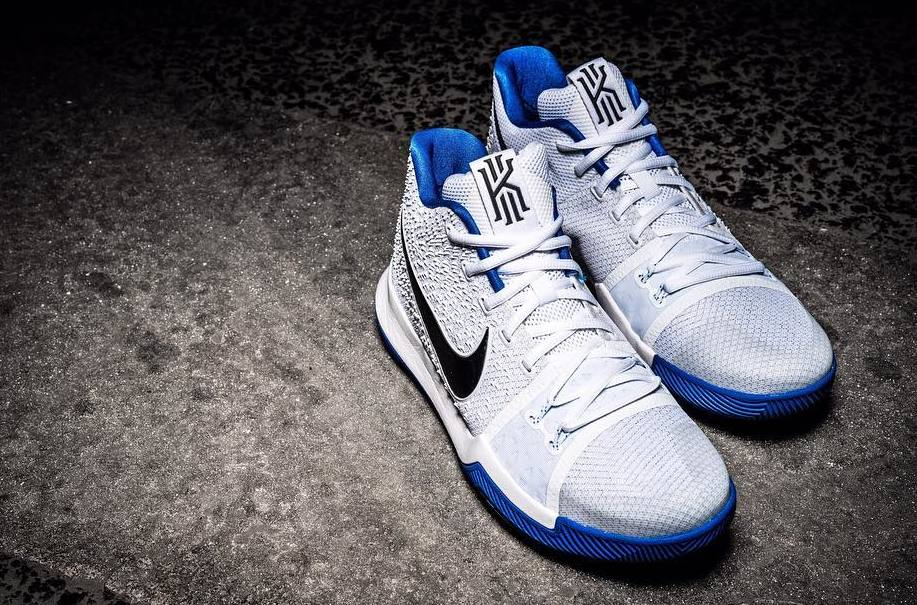 the latest 40dee 0c4be Nike Kyrie 3 White/Blue Release Date | Sole Collector