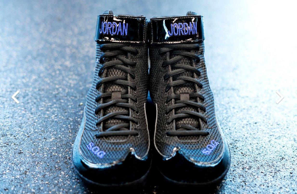 Andre Ward Air Jordan Space Jam Boxing Boots Toe