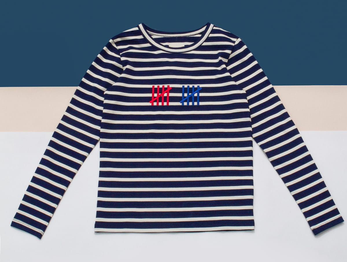 Band of outsiders is releasing a capsule collection just for Banded bottom shirts canada