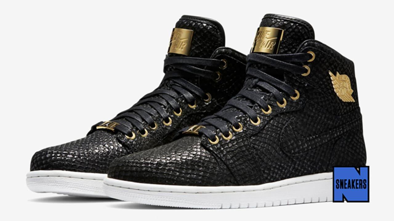 Air Nike 1 Retro Black Jordan Pinnacle 24k I oCEQrdxeWB