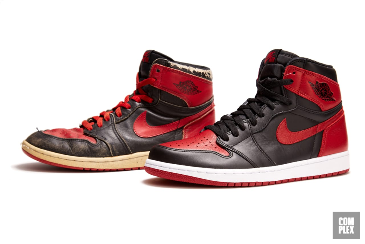 84b7b96372a The Evolution of the Black and Red Air Jordan 1, the Sneaker That Started  It All | Complex