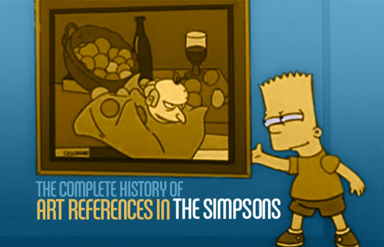 Barney Simpson Porn the complete history of art references in the simpsons | complex