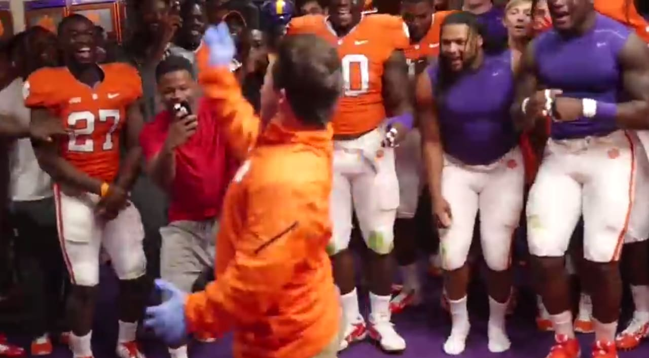 Clemson Football Team Manager Remixes The Shmoney Dance For Post Game Celebration