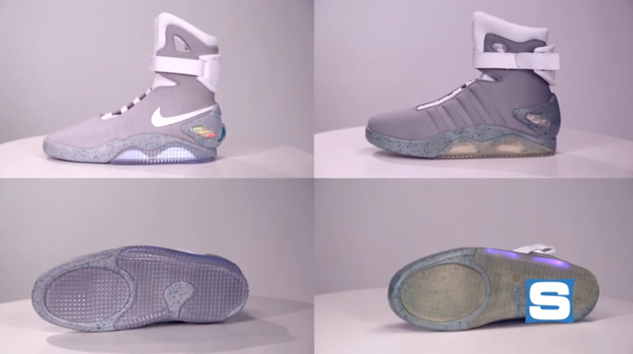 Comparing Nike Mag With Halloween Costume Replica Video