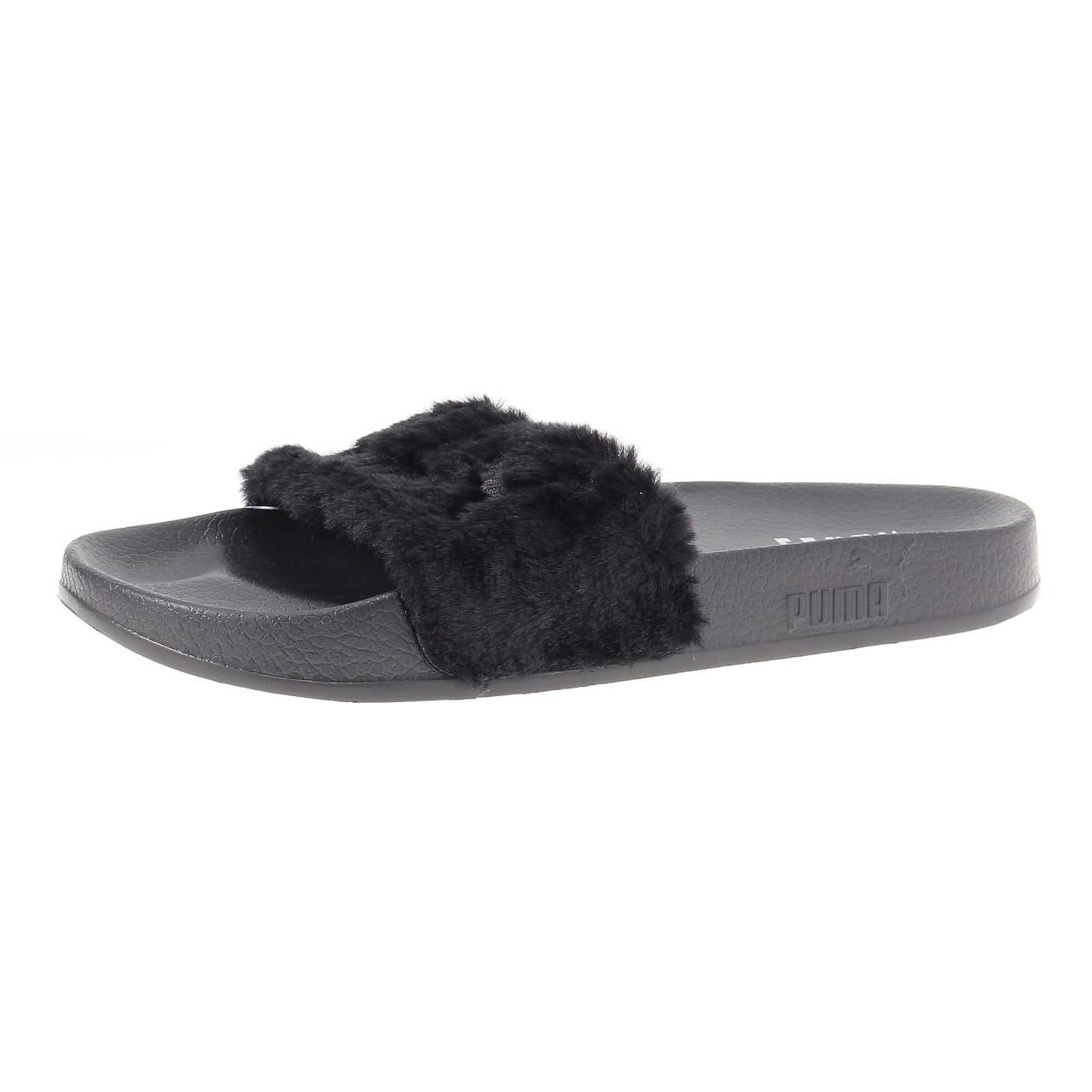 rihanna black puma sandals