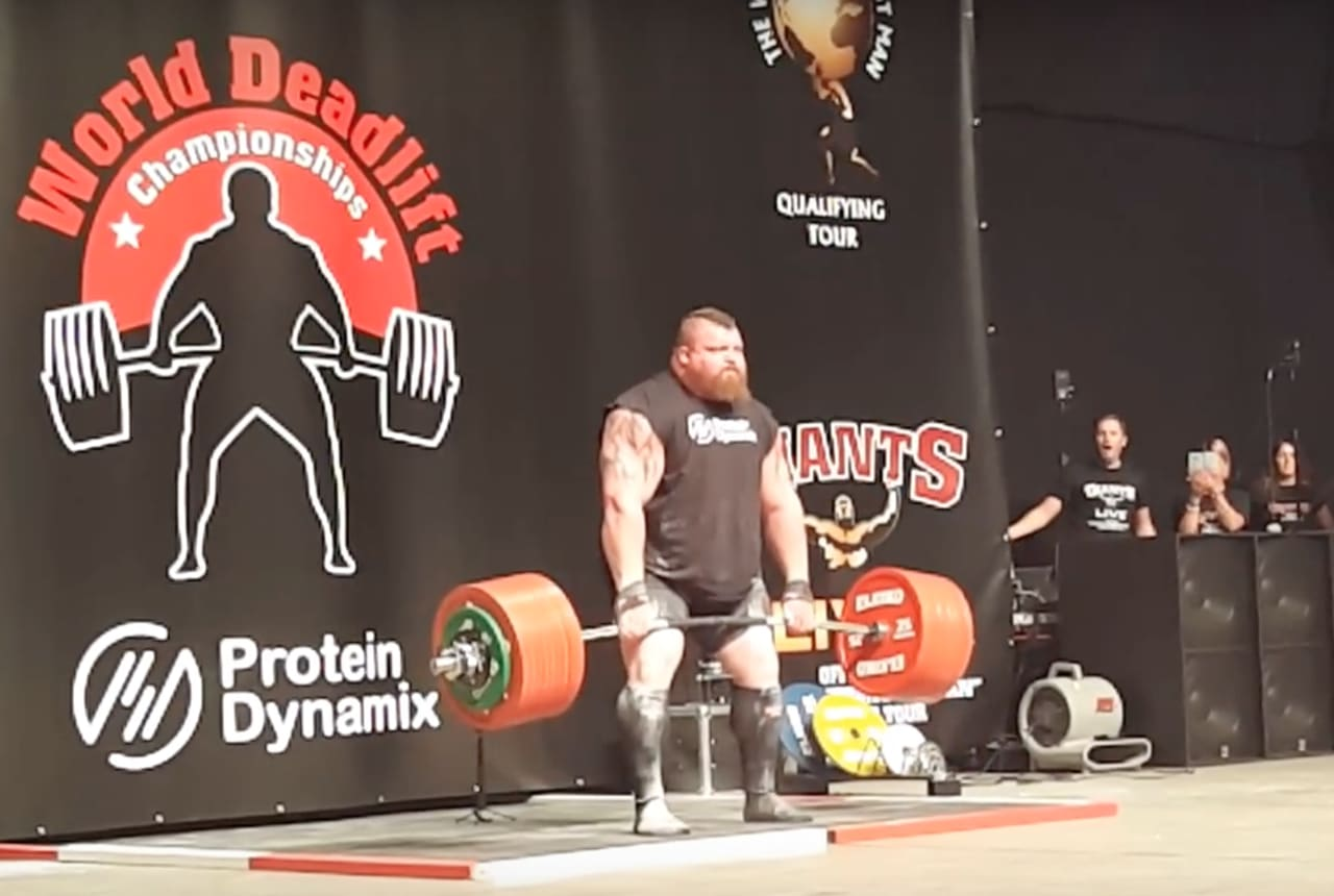 Strongman Eddie Hall Says He Nearly Died Breaking the World Deadlift Record