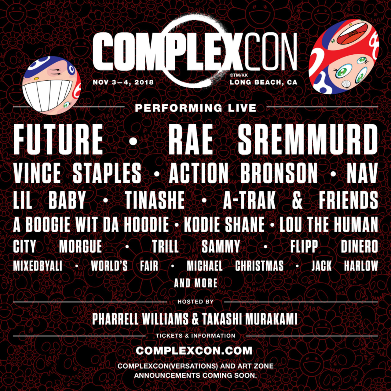 Future, Rae Sremmurd, Vince Staples, and More to Perform at ComplexCon 2018