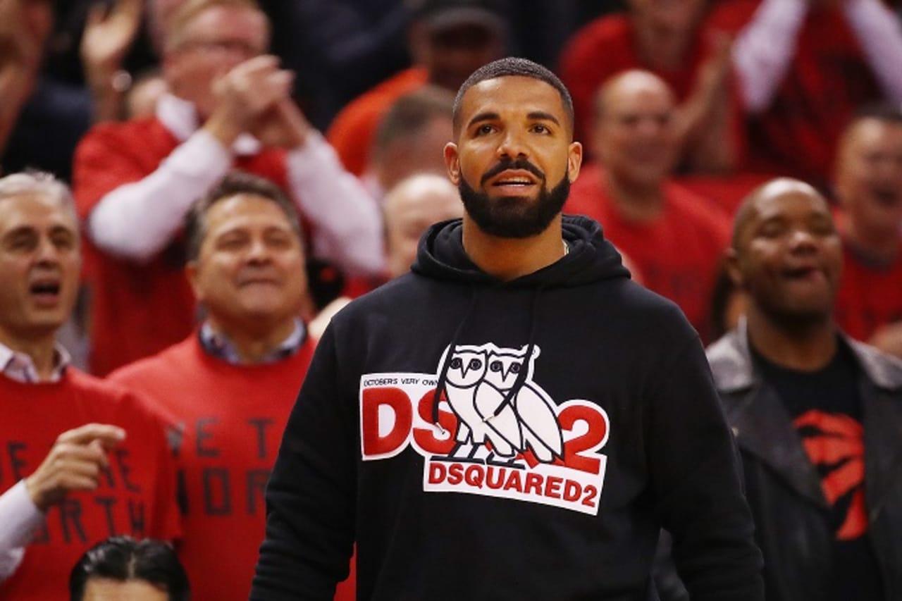 "Drake Toronto Raptors Kawhi Leonard /""Drakes Logo/"" T-Shirt"