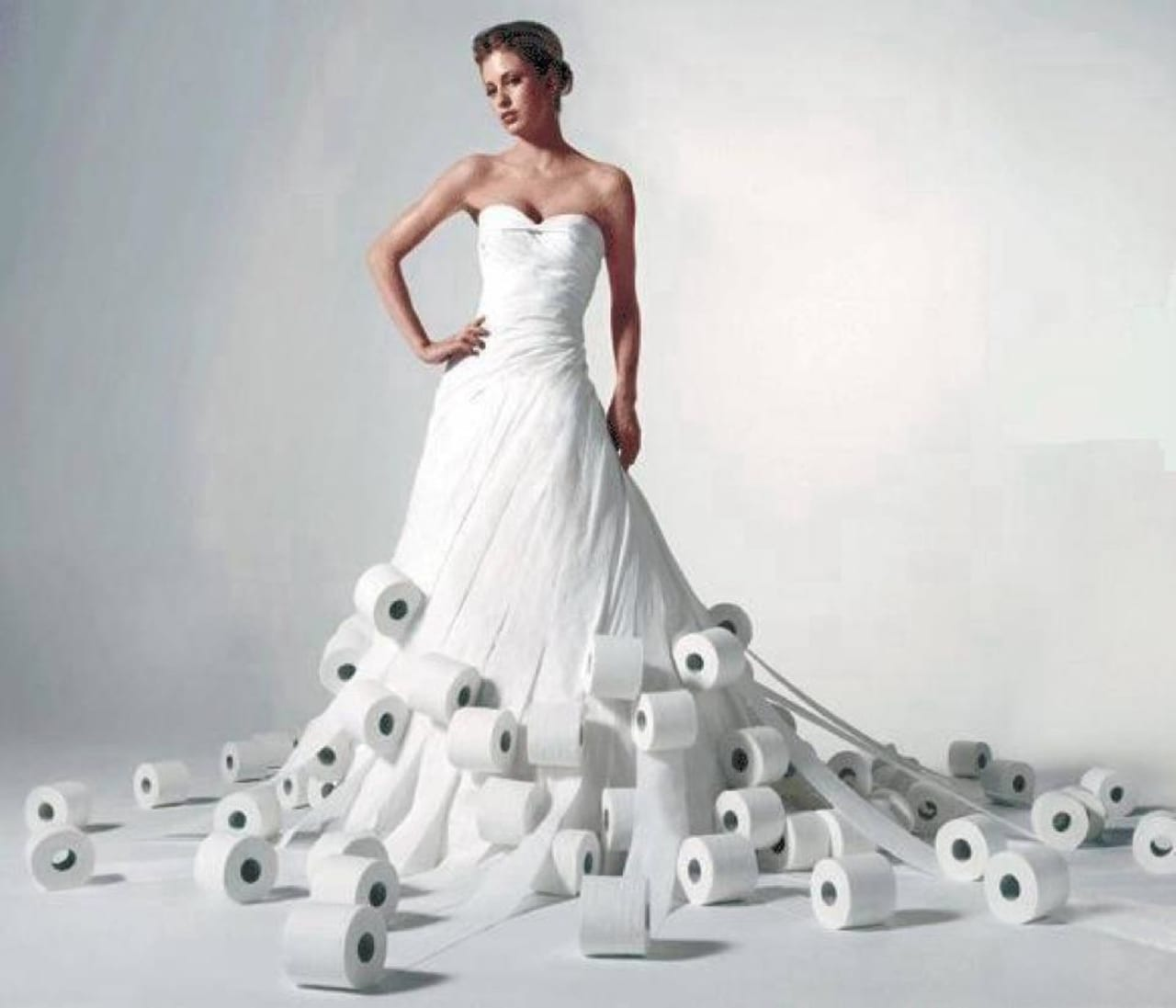 A Toilet Paper Wedding Dress Design Contest Now Open For