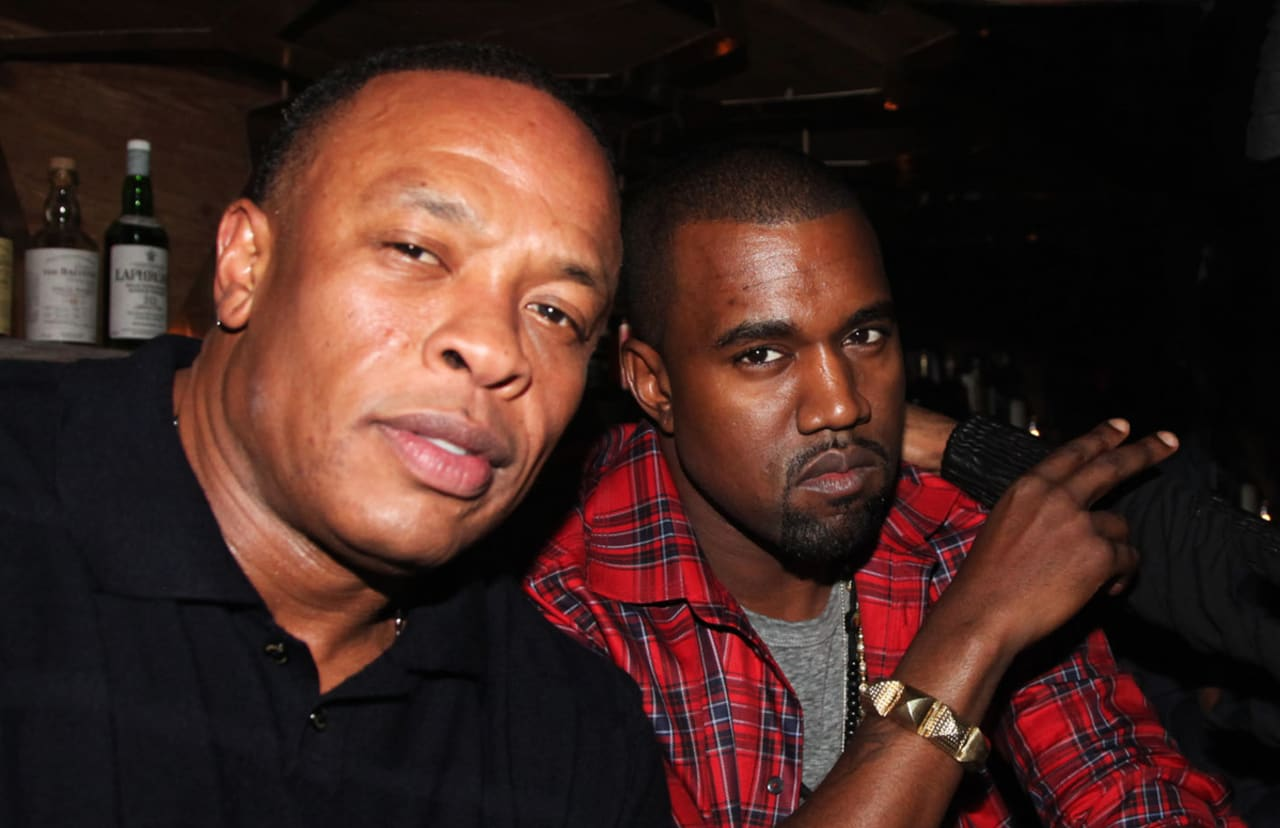 Image result for kanye west and dr dre