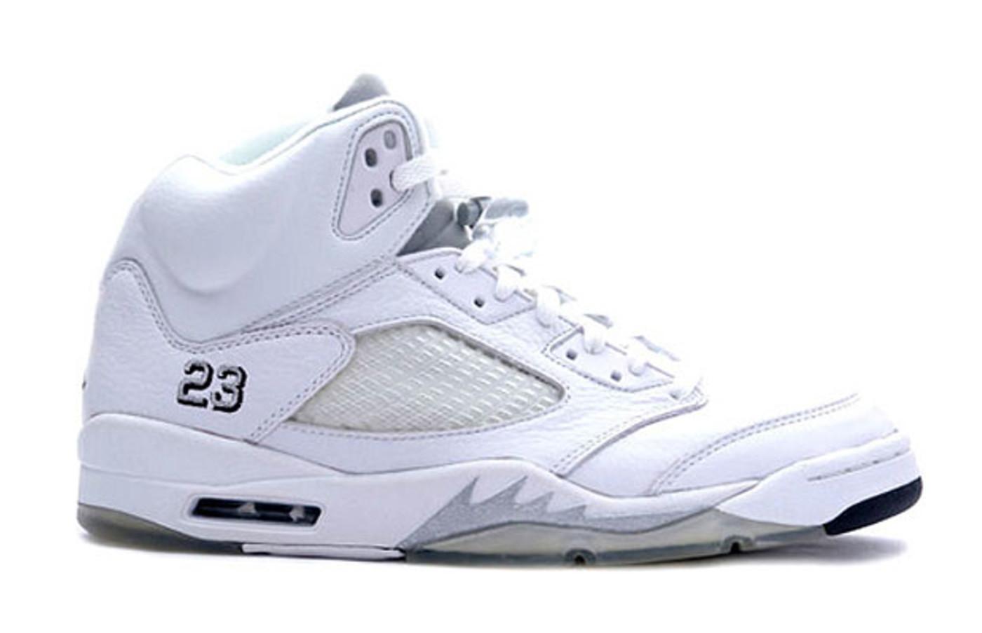 jordan 5 white and grey