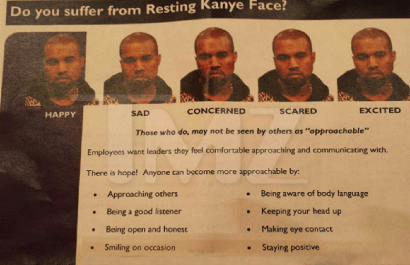 goodwill resting kanye face
