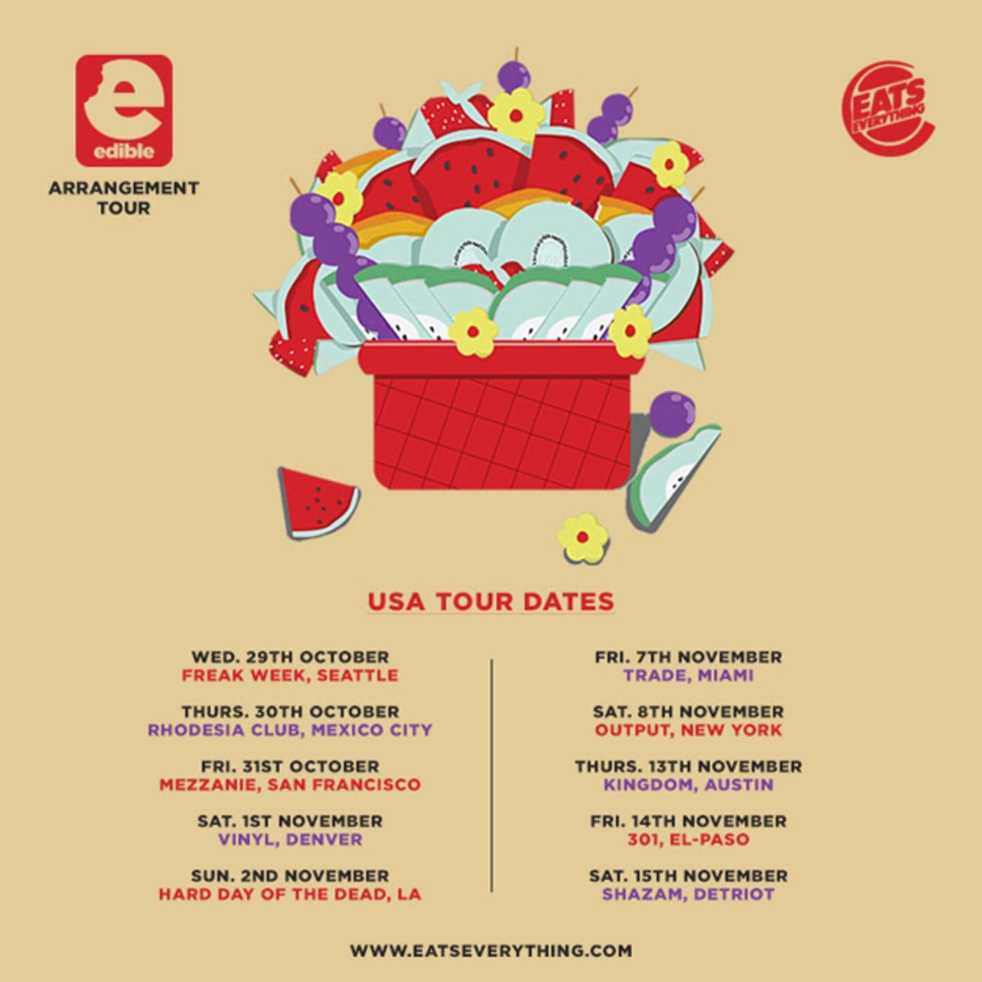 edible arrangement tour