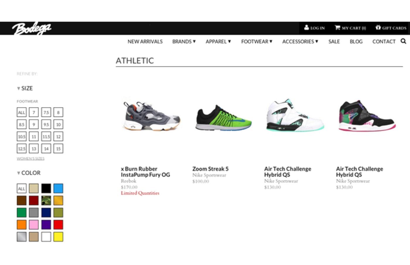 Bodega's new web store