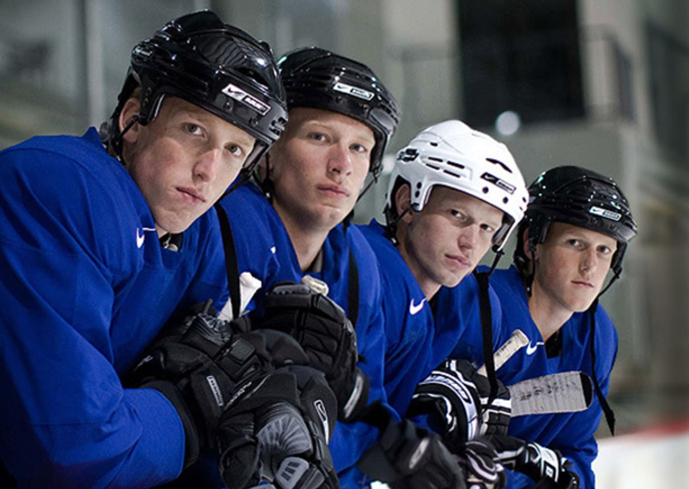 The Staal brothers from Thunder Bay, Ontario, Canada, who are all currently signed to NHL contracts