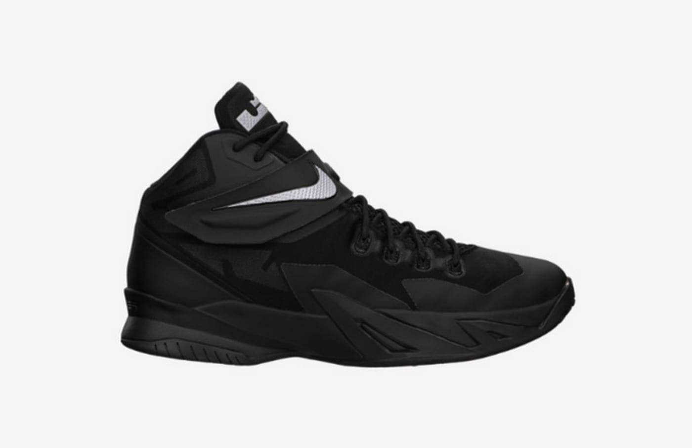 "Buy the Nike Zoom Soldier VIII ""Black/Metallic Silver"" on Nike.com"