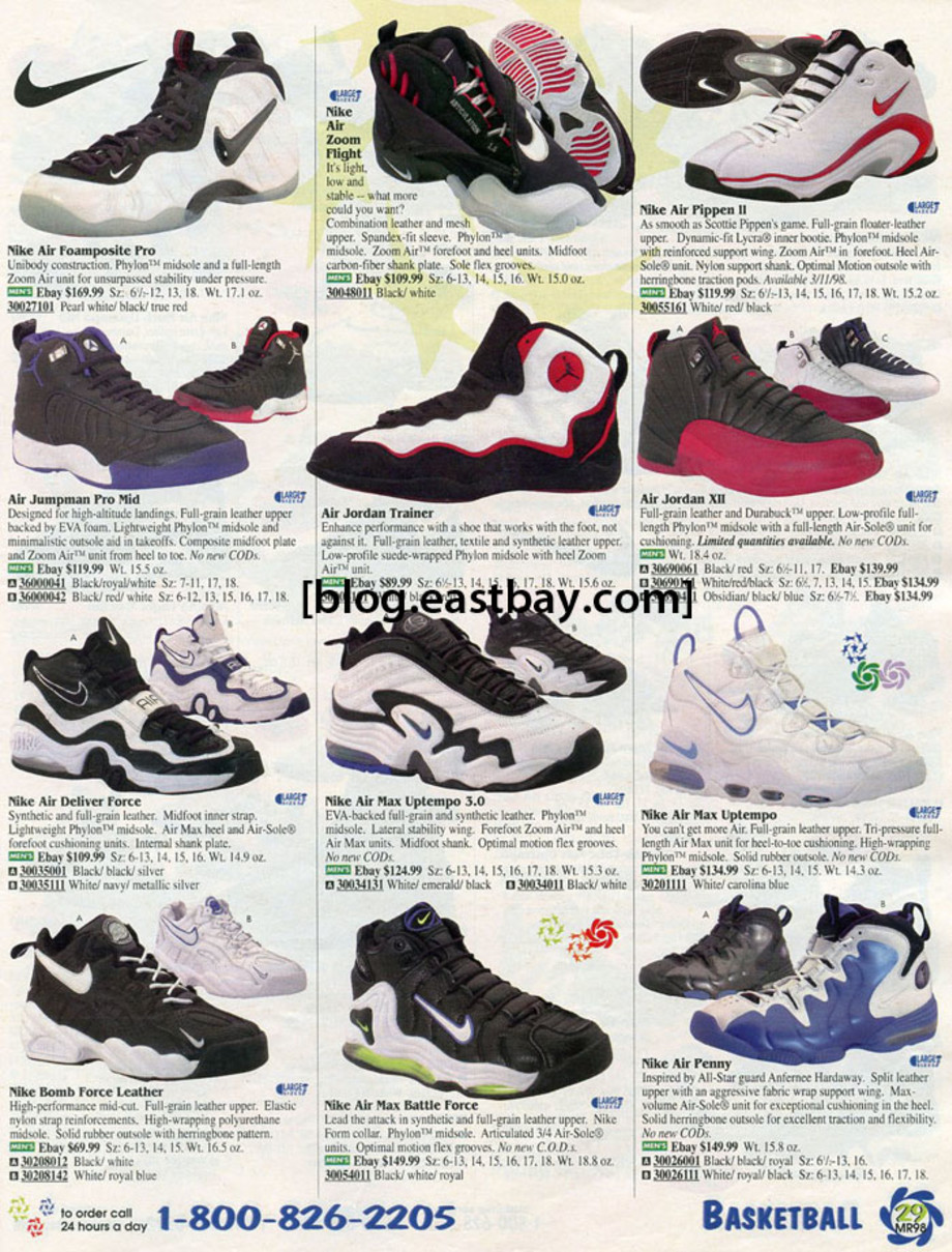 25 Classic Sneakers From Vintage Eastbay Catalogs | Complex