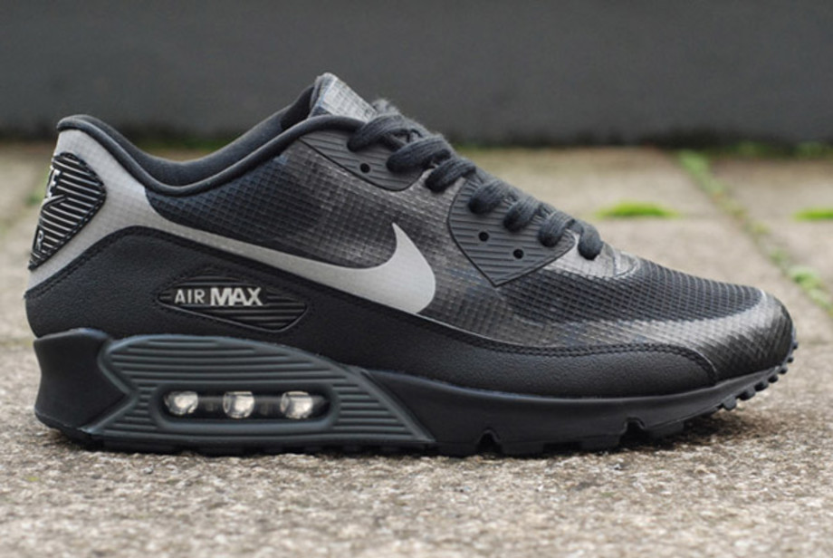 Nike Air Max 90 Hyperfuse Black Grey Reflective