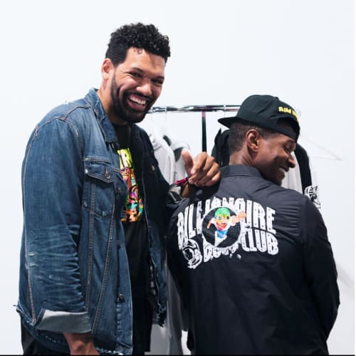 Artist Hebru Brantley and Usher at Billionaire Boys Club